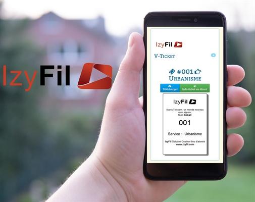Avec le V-Ticket d'IzyFil, découvrez le Ticket Virtuel ou ticket digital pour smartphone ! Vos visiteurs peuvent prendre leur rang sur leur smartphone en scannant un code QR et être appelés par SMS et/ou depuis une interface de suivi sur téléphone mobile.